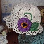 Летняя шляпка с цветком