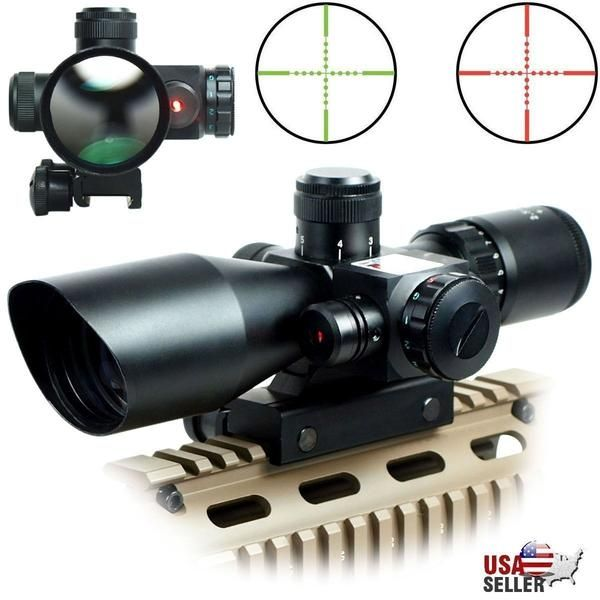 2 5 10x40 Illuminated Optic With Integrated Red Laser Hunting Rifles Red Dot Scope Hunting Scopes