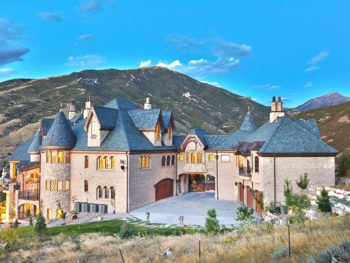 At 10 4 million draper castle among mega mansions for for Mega mansion for sale