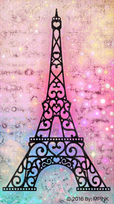 Galaxy Eiffel Tower I created for the app Cocoppa