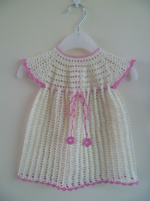 78+ images about Crochet baby frocks and sweaters on ...