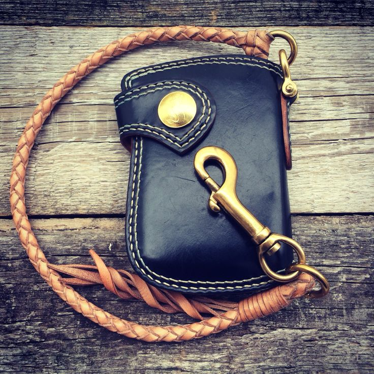 KRYSL GOODS worn handmade Horween Shell Cordovan wallet & custommade brass hardware