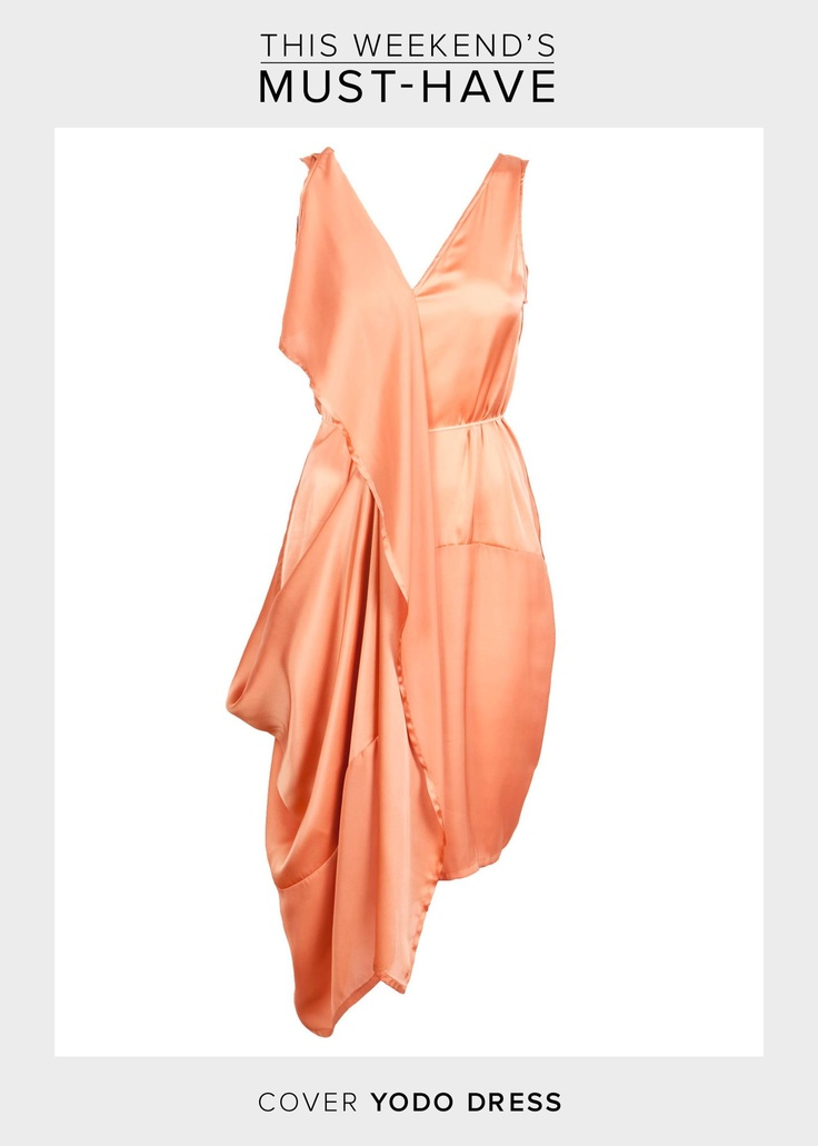 We are all about pastels this week. This weekend's must have is this sexy and exclusive peach dress by Cover. Accessorize it with some silver jewellery and a feminine tote.     Check out this delicious dress here >>  http://www.boozt.com/r/cover/yodo-dress_864575/864576