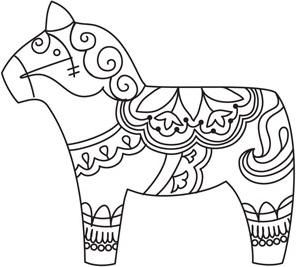Dala Horse_image for hand embroidery