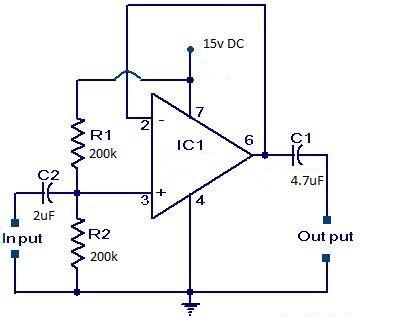 #VoltageFollower circuit Unity Gain Amplifiers or Buffer Amplifiers.