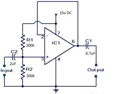 ‪#‎VoltageFollower‬ circuit Unity Gain Amplifiers or Buffer Amplifiers.