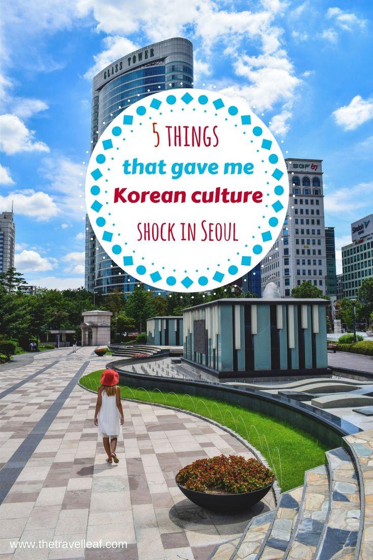 Korean culture shock in Seoul, South Korea