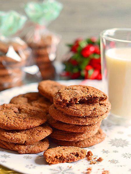 Ciasteczka piernikowe z czekoladą