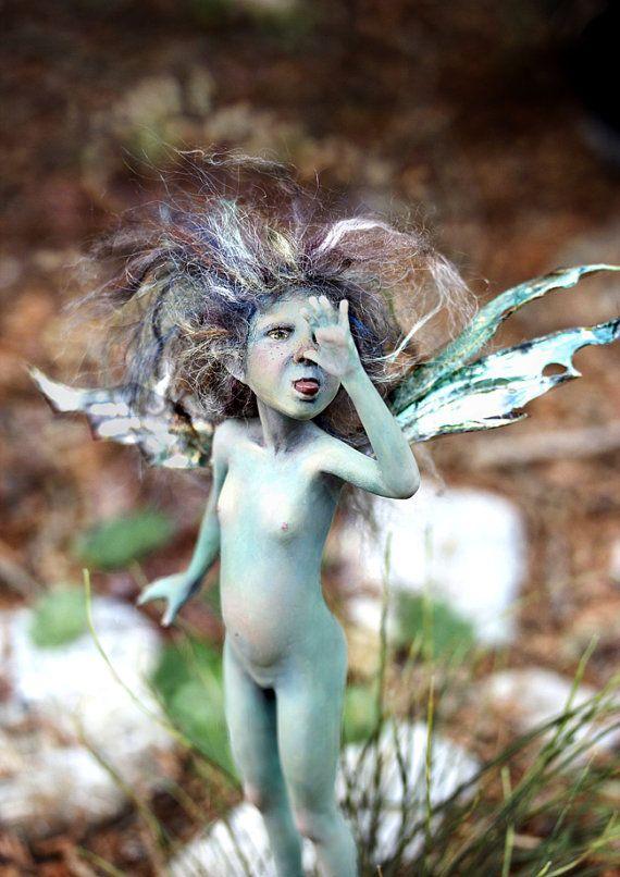 Pixie girl Xanti OOAK made by Tatjana Raum by chopoli on Etsy, $890.00