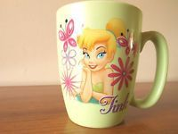 Authentic Disney Store Original TINK Tinkerbell Coffee Mug Lime Green 16 Oz HUGE
