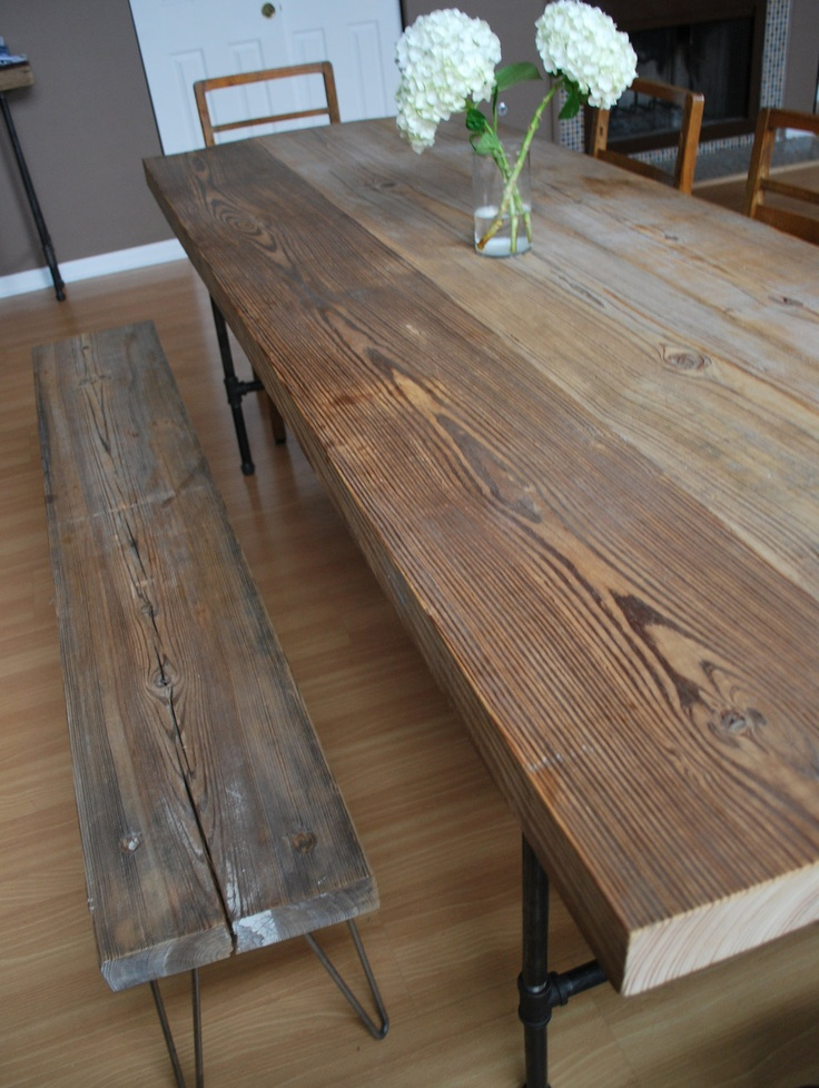 Reclaimed Wood Dining Table The Next We Buy Bench LegsTable