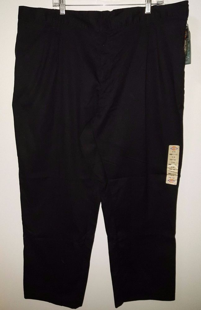 Dickies NWT Woman's Black Scotchgard Stain Release Twill Work Pants Size 24 RG #Dickies