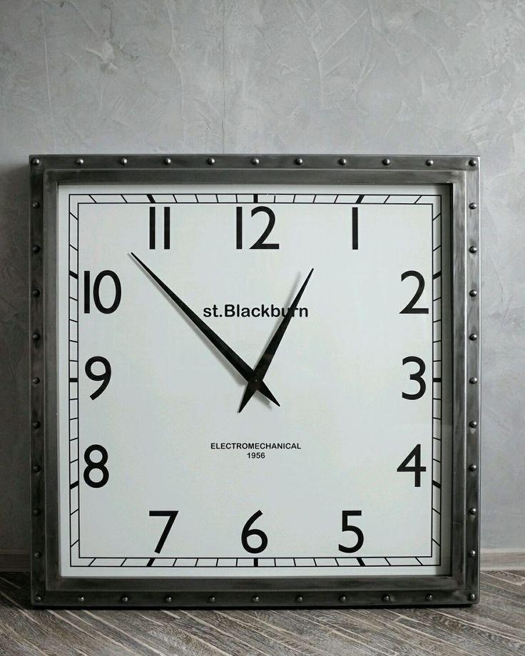 Купить Часы Loft стальные - настенные часы, большие часы, огромные часы, вокзальные часы
