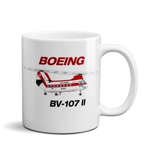Boeing Vertol BV-107 II Airplane Ceramic Mug - Personalized w/ N#