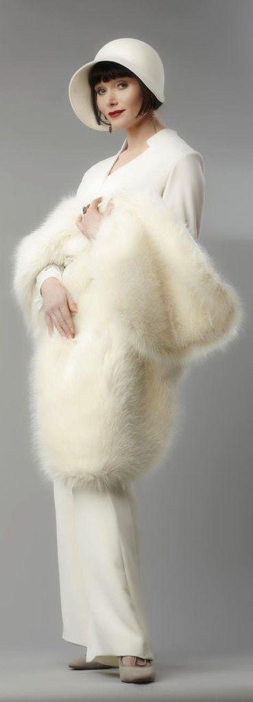 """White on white. """"Miss Fisher's Murder Mysteries"""" (2012). Costume Designer: Marion Boyce"""