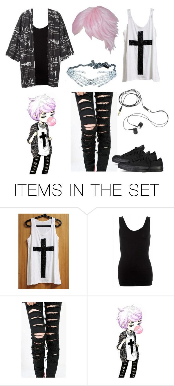 """""""Pastel Goth Boy"""" by darkandfallenangel ❤ liked on Polyvore featuring art"""