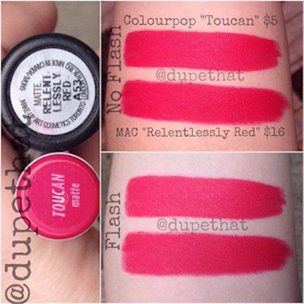 MAC Relentlessly Red & ColourPop Toucan