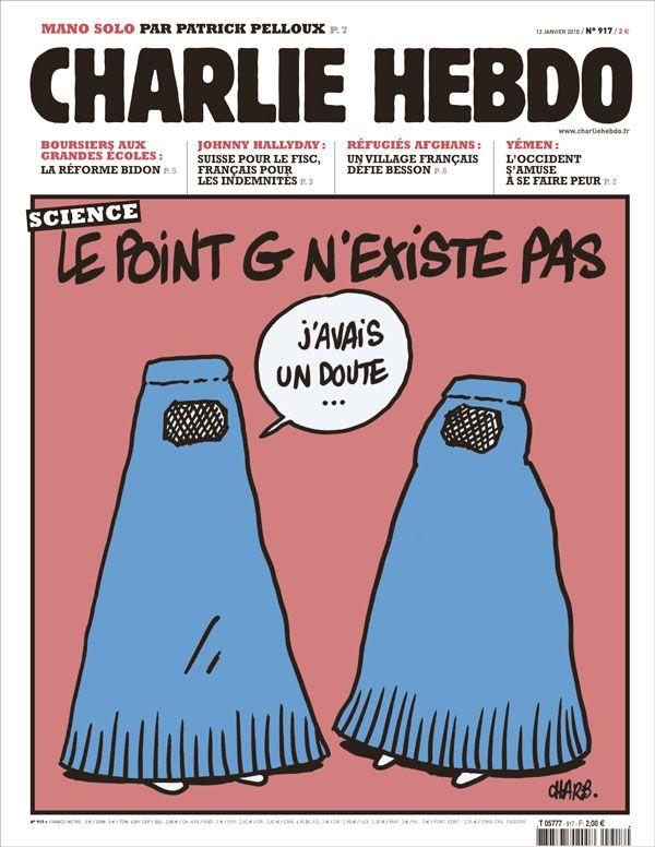 Charlie Hebdo - # 917 - 13 Janvier 2010 - Couverture : Charb