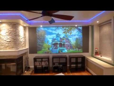 FULL 1080P PROJECTOR WITH 16:9 AND 2.35:1 RATIO, 10 X 20 BLACKOUT CLOTH ...