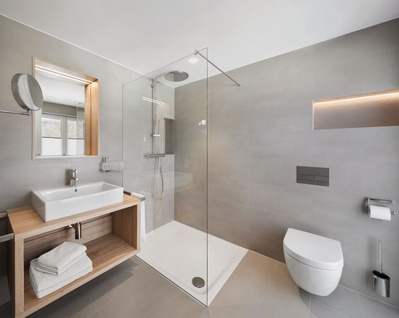 858 best salle de bain : aménagement & déco images on pinterest ... - Salle De Bain Gris Bois