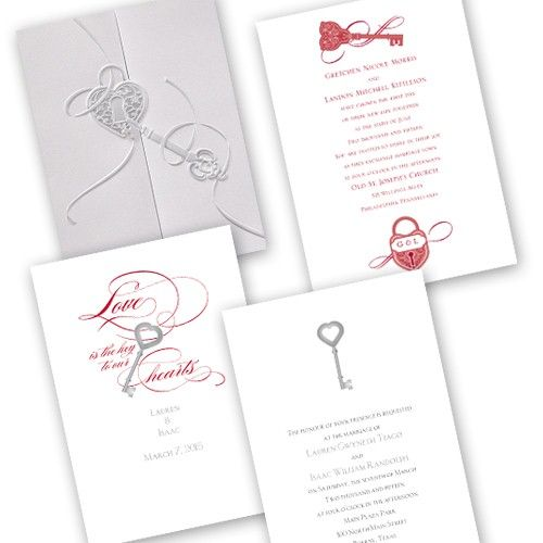lock key heart wedding invitations could be just the thing for a