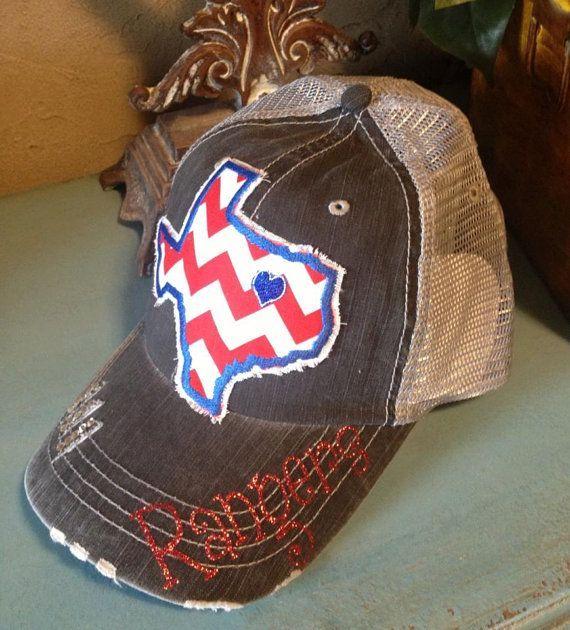 Texas Rangers Baseball State Hat