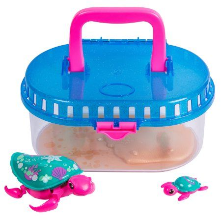 Little Live Pets Lil Turtle Tank Seashore The Reef Turtle And Baby Walmart Com Little Live Pets Toy Turtles Pets