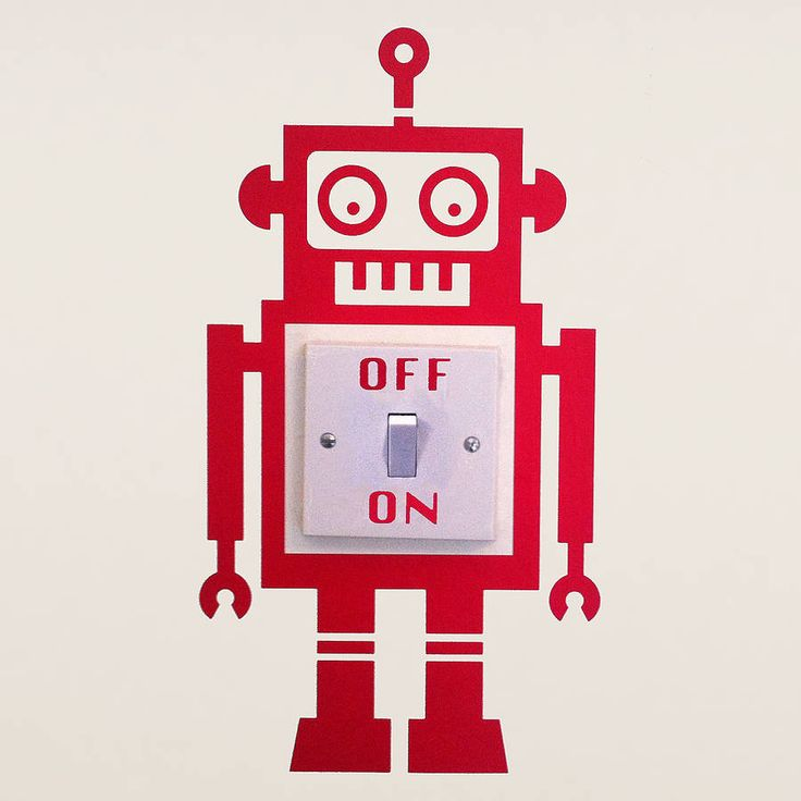 Robot Light Switch Vinyl Wall Sticker - brilliant idea!!
