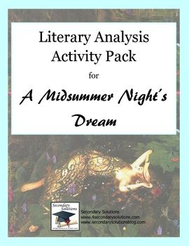 literary analysis of the play a midsummer night s dream by william shakespeare Need help on themes in william shakespeare's a midsummer night's dream check out our thorough thematic analysis from the creators of sparknotes a midsummer night's dream themes from litcharts | the creators of sparknotes sign in sign up lit guides a midsummer night's dream is a play.