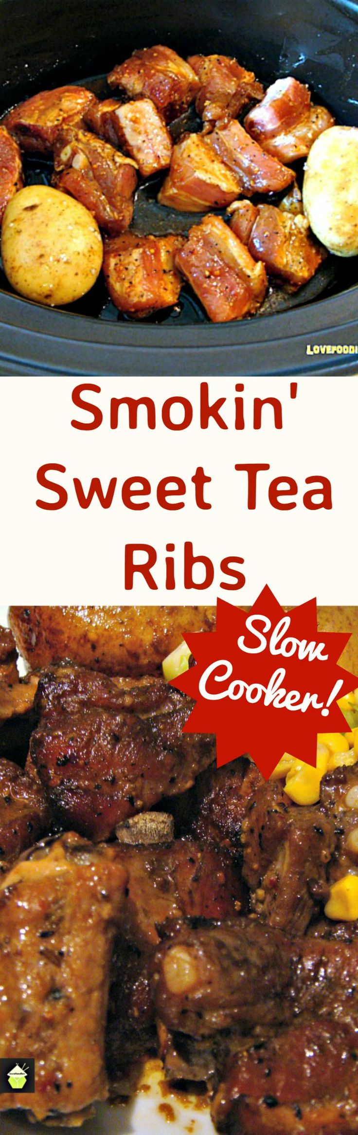Smokin 39 sweet tea ribs use pork or beef ribs chops drumsticks you choose slow cooker crock - Choose best pork ...