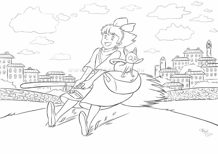 It's just an image of Trust Kiki's Delivery Service Coloring Pages