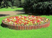 Log Border Flower Beds