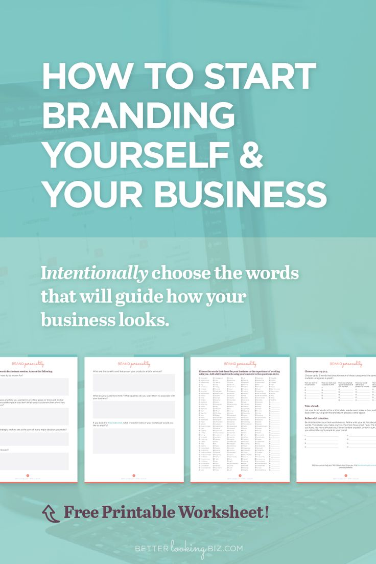 How to start branding yourself and your business
