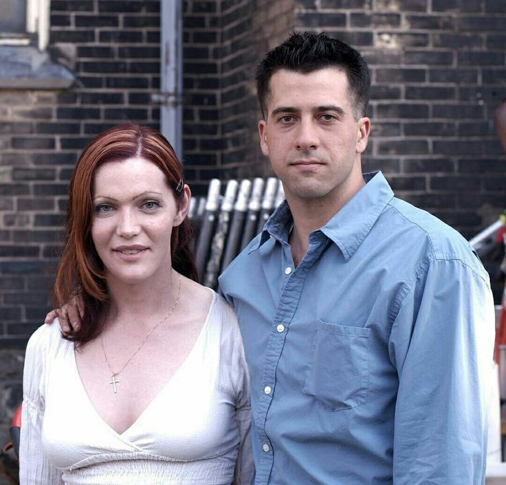 Troy Garity and Calpernia Addams on the set of A Soldier's Girl. Troy played Barry Winchell, a solider and murder victim who was Calpurnia's real life boyfriend.