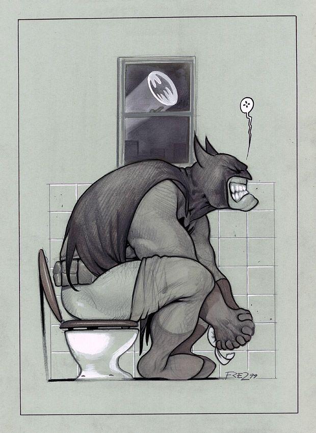 Batman by artist Massimiliano Frezzato - Hero daily problems