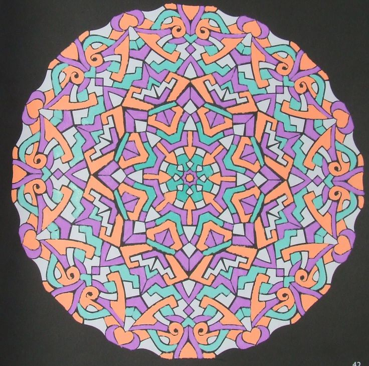Kaleidoscopes 42 done with gelpens