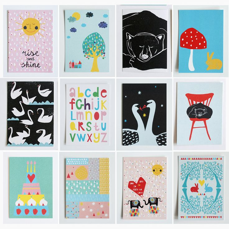 Assorted postcards by Ninainvorm (choose your own design) | room to decorate | scandinavian and vintage designed homewares - online shop