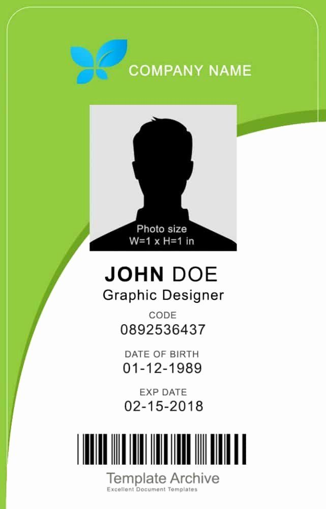 Vertical Postcard Layout Best Of 16 Id Badge Id Card Templates Free Template Archive Id Card Template Card Templates Free Business Card Template Psd