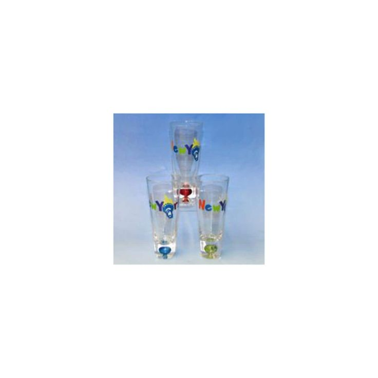 Club Pack of 12 Bubble Shooter Shot Glasses with New York City Torch Design, Multi
