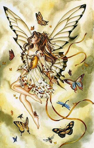 .Autumn faerie #butterfly #art