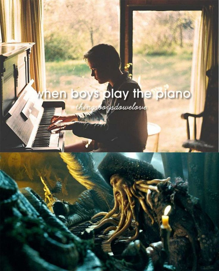 When boys play the piano - Pirates of the Caribbean version - lol hipdter post