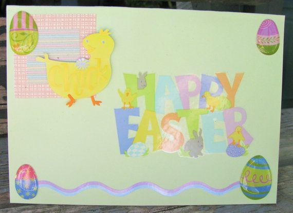 Easter Chicks  handmade card FWB easter card by RogueKissedCraft