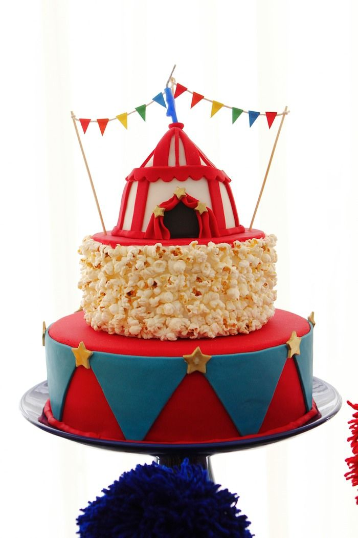 Circus themed birthday party via Kara's Party Ideas KarasPartyIdeas.com Cake, supplies, printables, food, and more! #circus #circusparty #circuspartyideas (7)