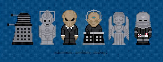 Doctor Who Villains  Digital PDF Cross by AmazingCrossStitch