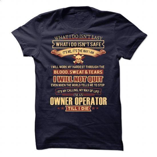 Owner Operator - #customized hoodies #retro t shirts. ORDER NOW => https://www.sunfrog.com/Jobs/Owner-Operator-90704652-Guys.html?60505