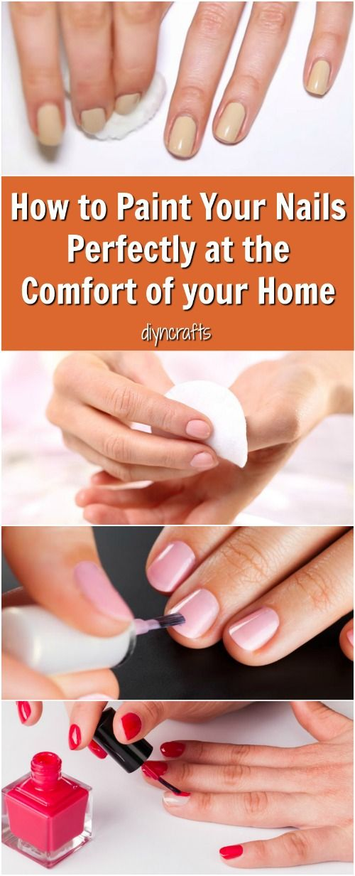 How to Paint Your Nails Perfectly in the Comfort of your Home - I just love painting my nails! It is a great way to express my personality, and I am always looking for fun new ideas to try.  via @vanessacrafting