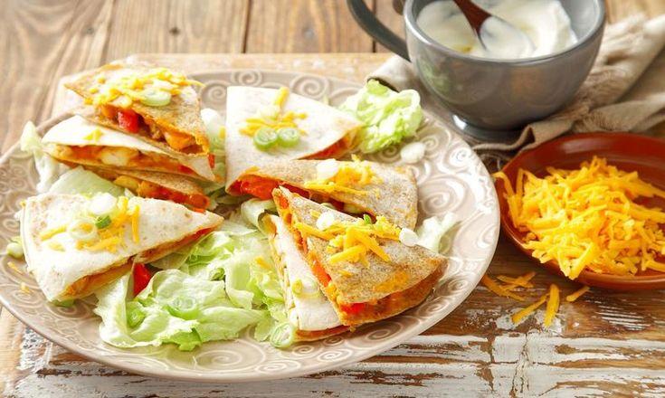 Kuřecí quesadilla se sýrem a paprikou