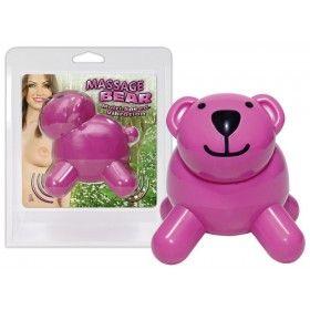 Orso rosa per un piacevole massaggio. Basta accendere la sua piccola coda per avviare la potente vibrazione.