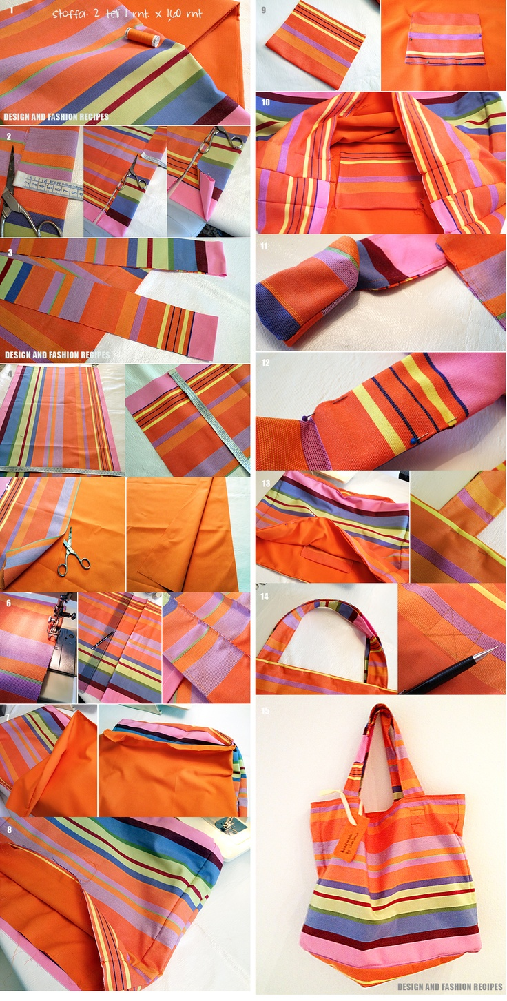 Step by step how to create your beach hand bag in 2 hours. More info on the blog www.designandfashionrecipes.com