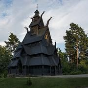 The Stave Church from Gol in the Collections of King Oscar II at Norsk Folkemuseum